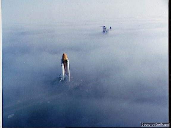 Challenger In A Blanket Of Fog